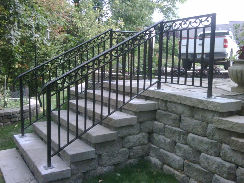 RAILINGS FOR GARDEN:STAIRCASE:METAL FIRE STAIRCASE:HAND RAILS