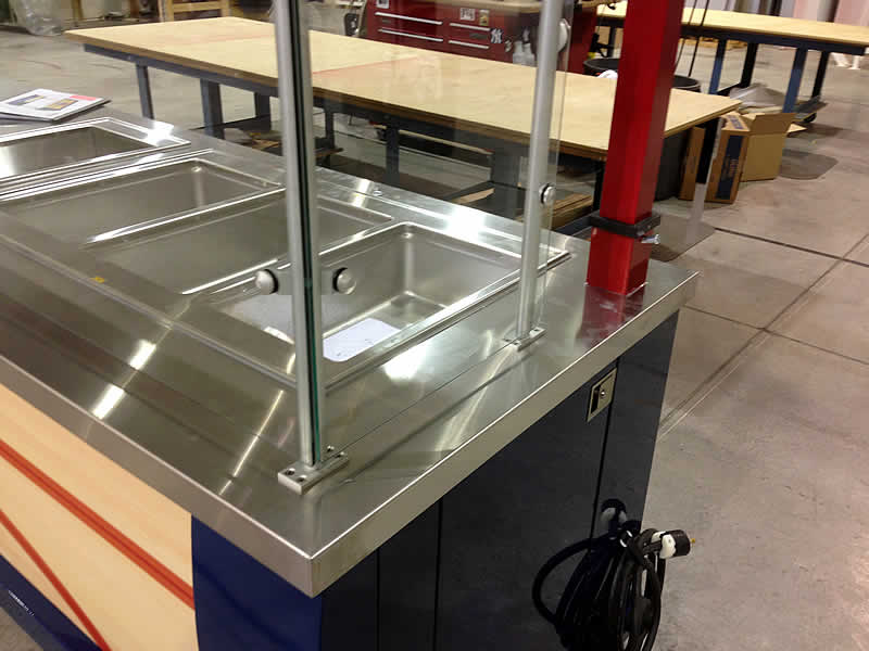 STAINLESS STELL WALL CLADDING:SHELVES:TABLES:COUNTERS FOR SHOPS
